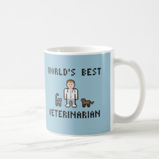 Pixel World's Best Veterinarian Mug