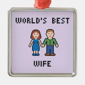 Pixel World's Best Wife Ornament