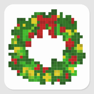 Pixel Wreath Stickers