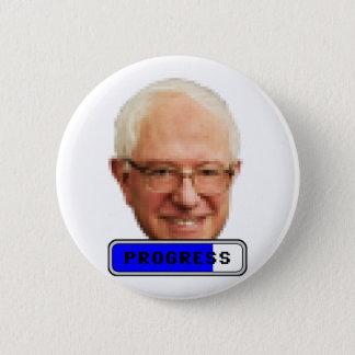Pixelated Bernie Sanders - PROGRESS 6 Cm Round Badge