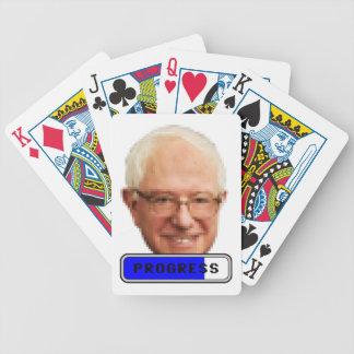 Pixelated Bernie Sanders - PROGRESS Bicycle Playing Cards