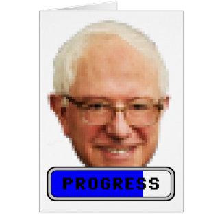 Pixelated Bernie Sanders - PROGRESS Card