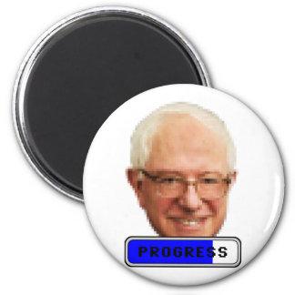 Pixelated Bernie Sanders - PROGRESS Magnet
