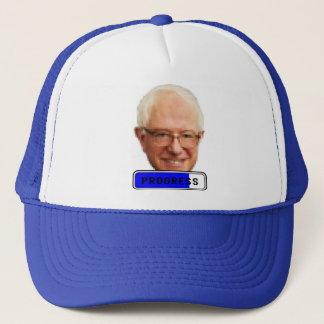 Pixelated Bernie Sanders - PROGRESS Trucker Hat