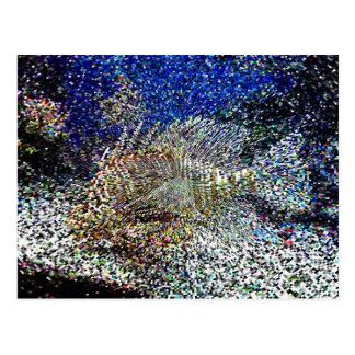 pixelated fish postcards