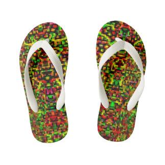 Pixelated Flip-Flops I Kid's Thongs
