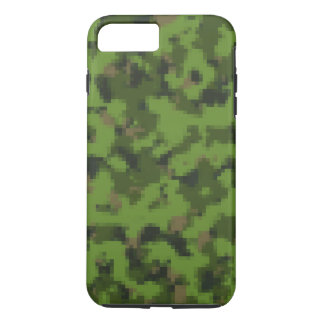 Pixelated iPhone Case Army Green