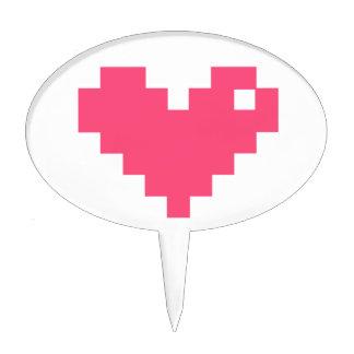 Pixelated Love Cake Picks