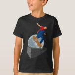 pixelated moon skater t-shirts
