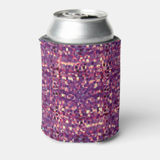 Pixelated Purple Soda Can Cooler