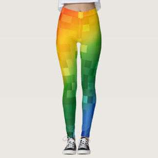 Pixelated Rainbow Leggings