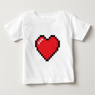 Pixelated red video game heart t shirts