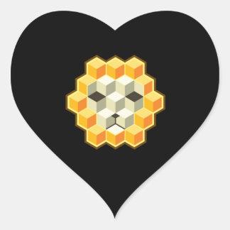 PixeLion Heart Sticker