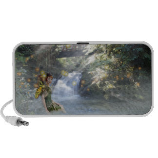 Pixie and waterfall travel speakers