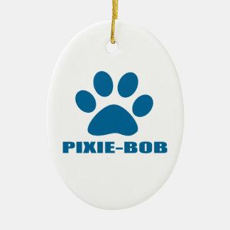 PIXIE-BOB CAT DESIGNS CERAMIC ORNAMENT