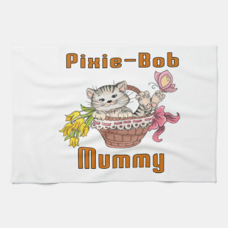 Pixie-Bob Cat Mom Tea Towel