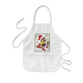 Pixie Elf Girl Christmas apron