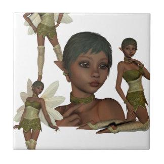 Pixie Elves Small Square Tile