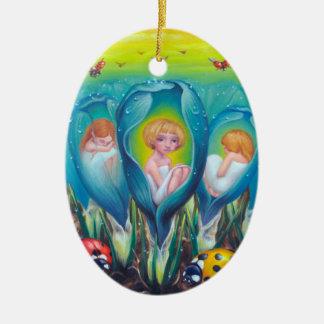 Pixie Farm Ceramic Oval Decoration
