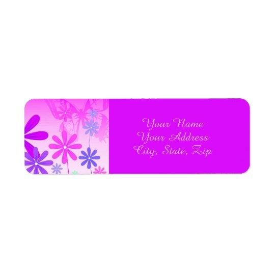 Pixie Flower Butterflies 2 Return Address Label