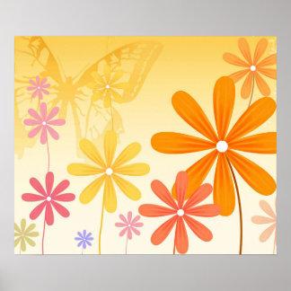 Pixie Flower Butterflies Poster