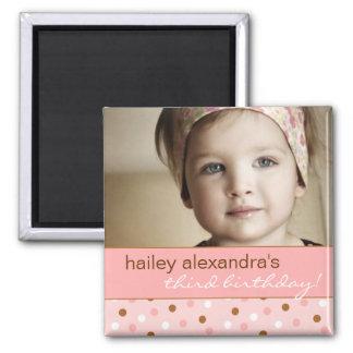 Pixie Polka Dots Birthday Photo Magnet