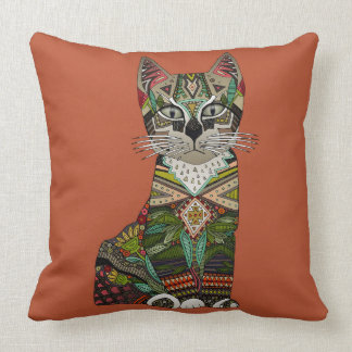 pixiebob kitten sienna throw pillow