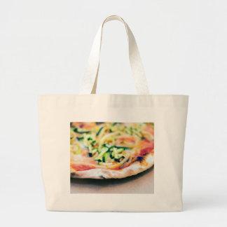 Pizza-12 Large Tote Bag
