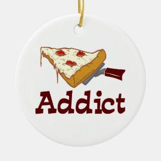 Pizza Addict Ceramic Ornament
