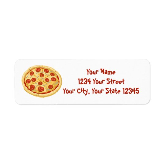 Pizza Address Label