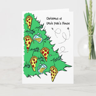 pizza christmas cards zazzle com au