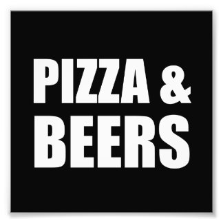 Pizza And Beers Photograph