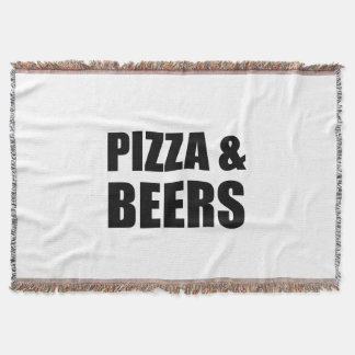 Pizza And Beers Throw Blanket