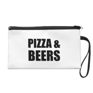 Pizza And Beers Wristlet Purse