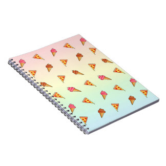Pizza and Ice Cream Spiral Notebook