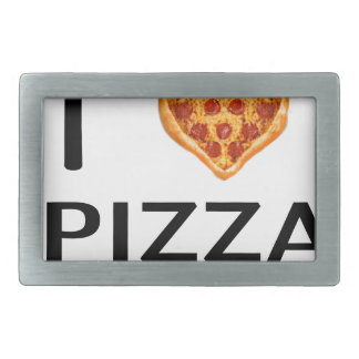 Pizza and love belt buckle