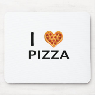 Pizza and love mouse pad