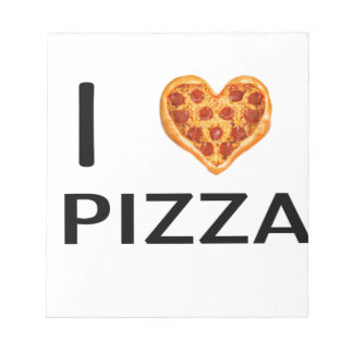 Pizza and love notepad