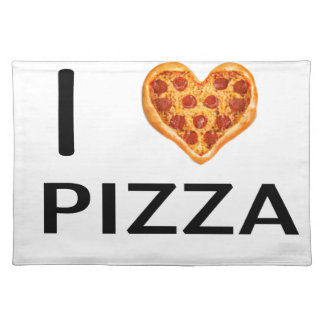 Pizza and love placemat