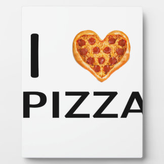 Pizza and love plaque