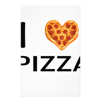 Pizza and love stationery