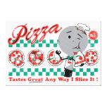 """Pizza Any Way I Slice It Retro Canvas — 3/4"""" thick Canvas Print"""