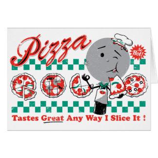 Pizza Any Way I Slice It Retro Card CUSTOMIZABLE