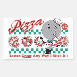 Pizza Any Way I Slice It Retro Sticker