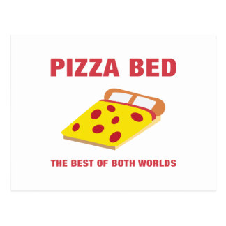 Pizza Bed Postcard
