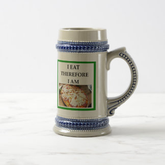 pizza beer stein