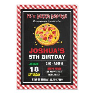 Pizza Birthday Invitation