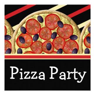 Pizza birthday party boys girls personalized invite