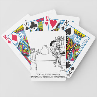 Pizza Cartoon 6991 Bicycle Playing Cards
