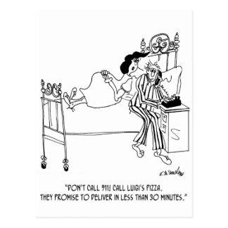 Pizza Cartoon 6991 Postcard